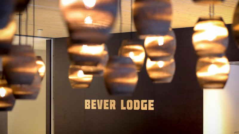The Bever Lodge lounge area